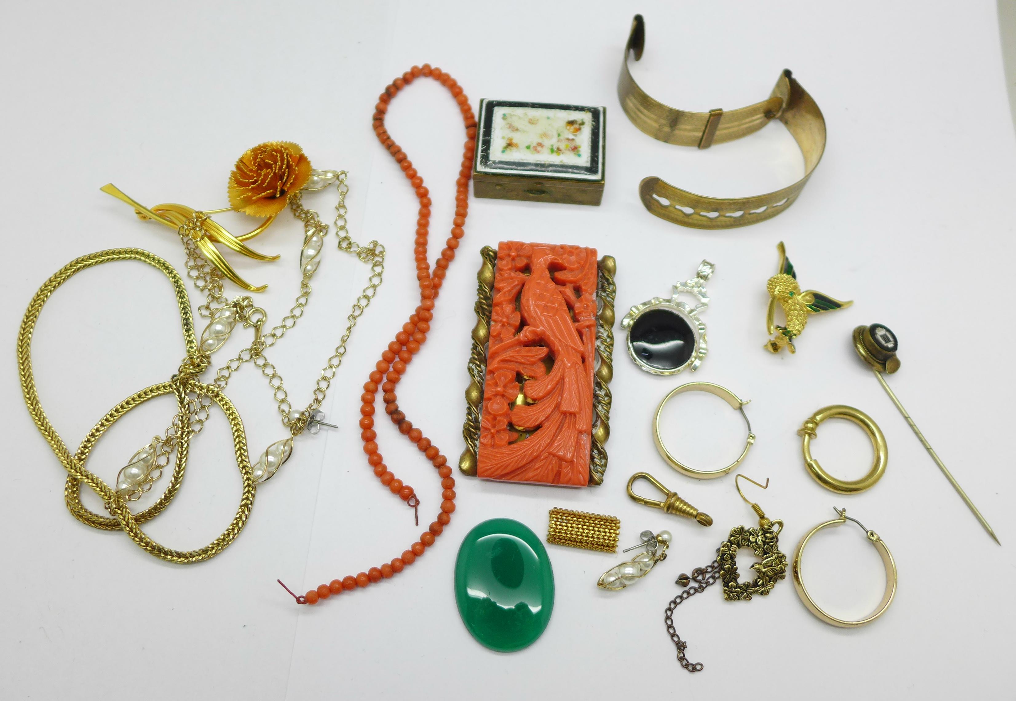 Costume jewellery, some a/f