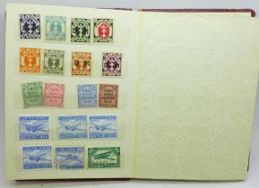 A stamp album, Third Reich, over 220 stamps