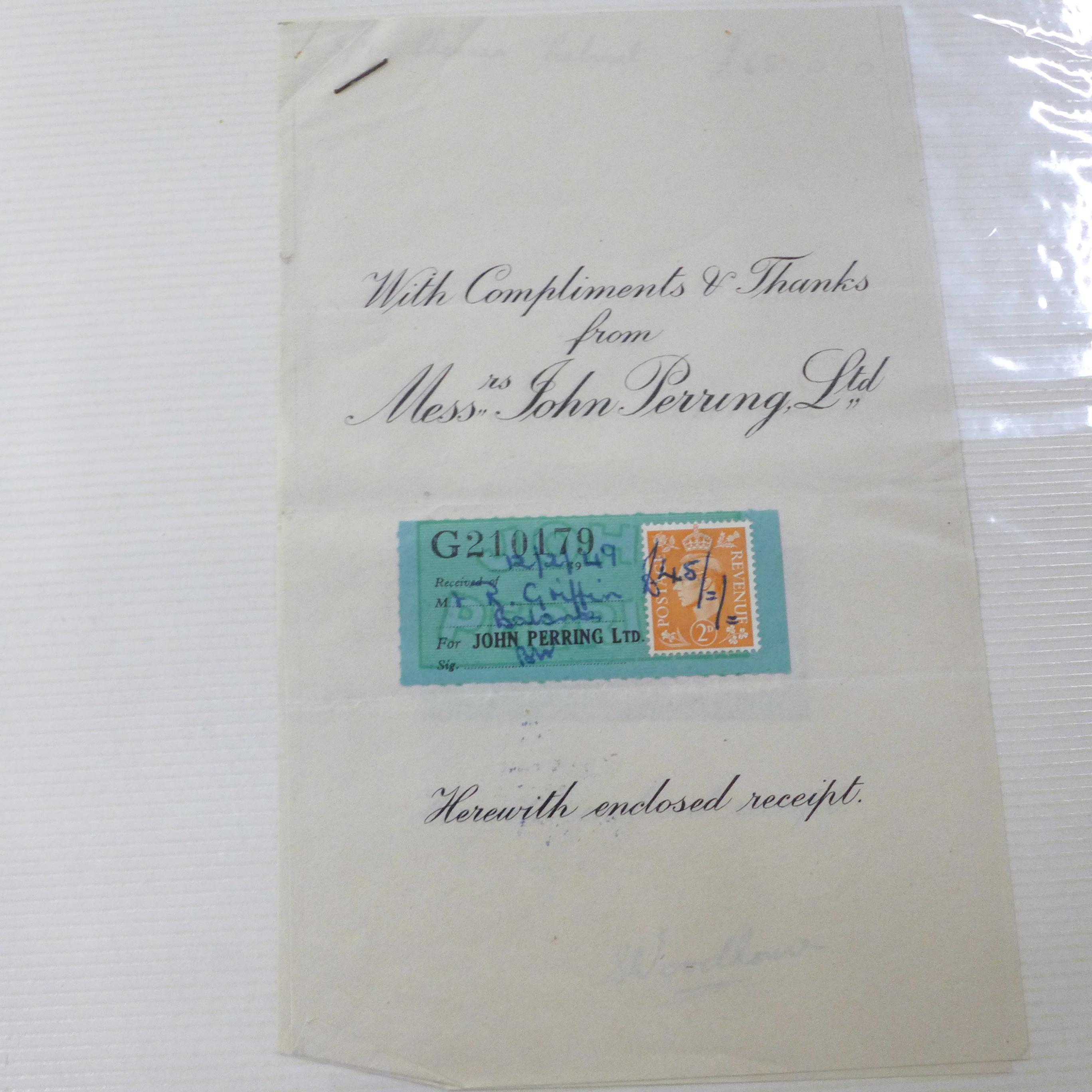An album of assorted 1850's - 1950's paper ephemera - Image 9 of 11