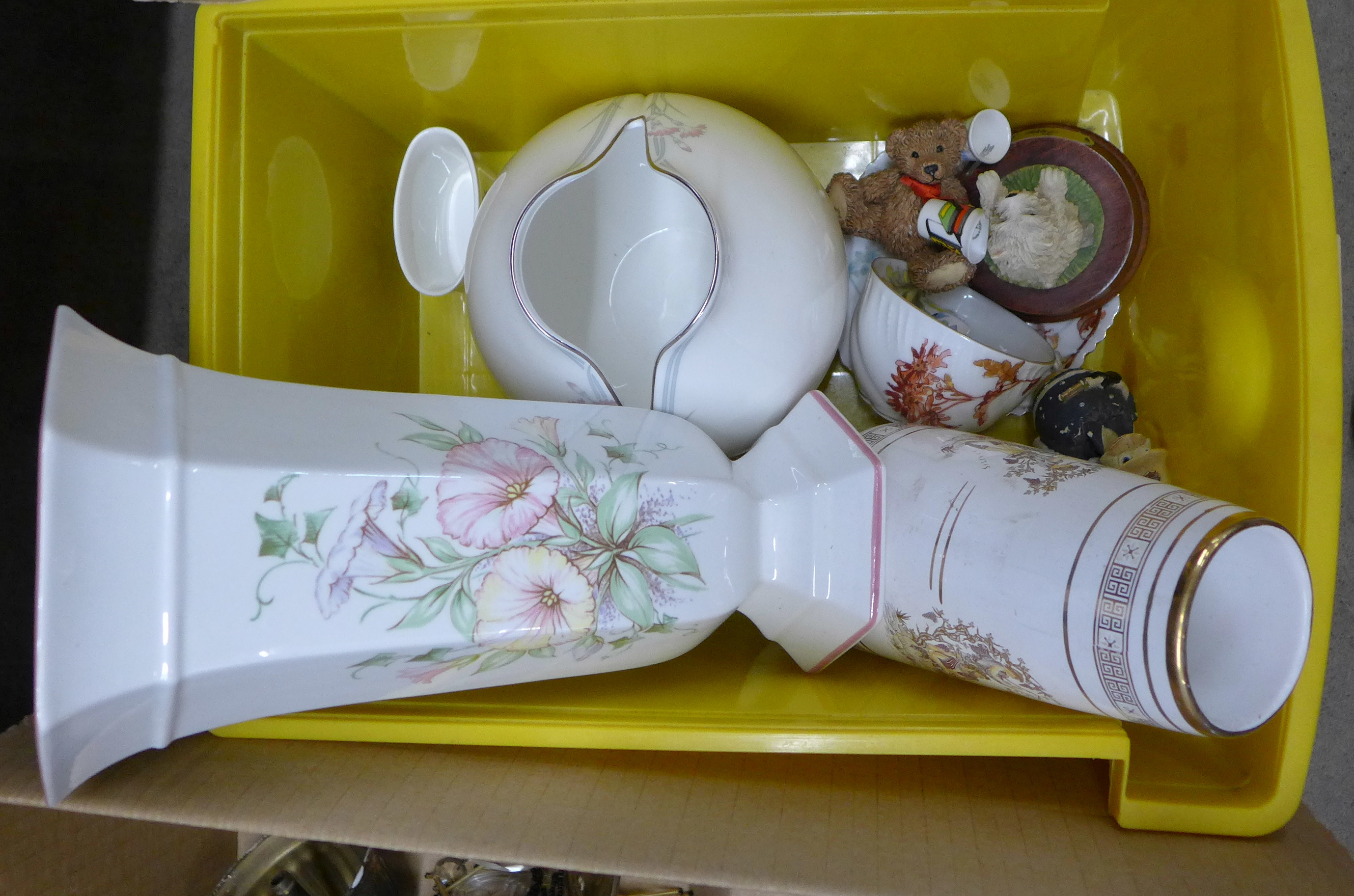 A collection of mixed china including Royal Doulton, Limoges and Hammersley and two Lord of the - Image 2 of 4