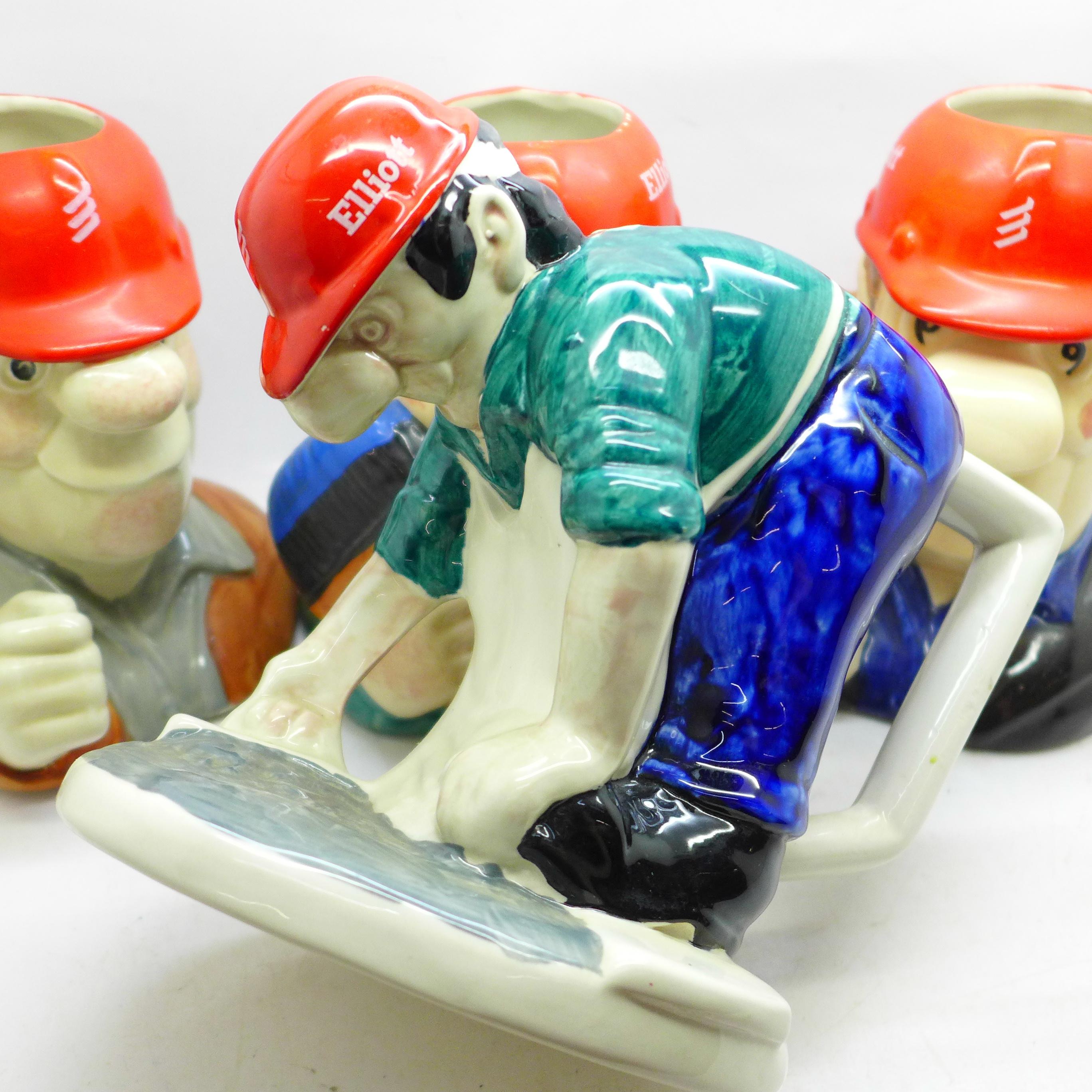Four Elliott Toby jugs, 'The Builders' - Image 3 of 6