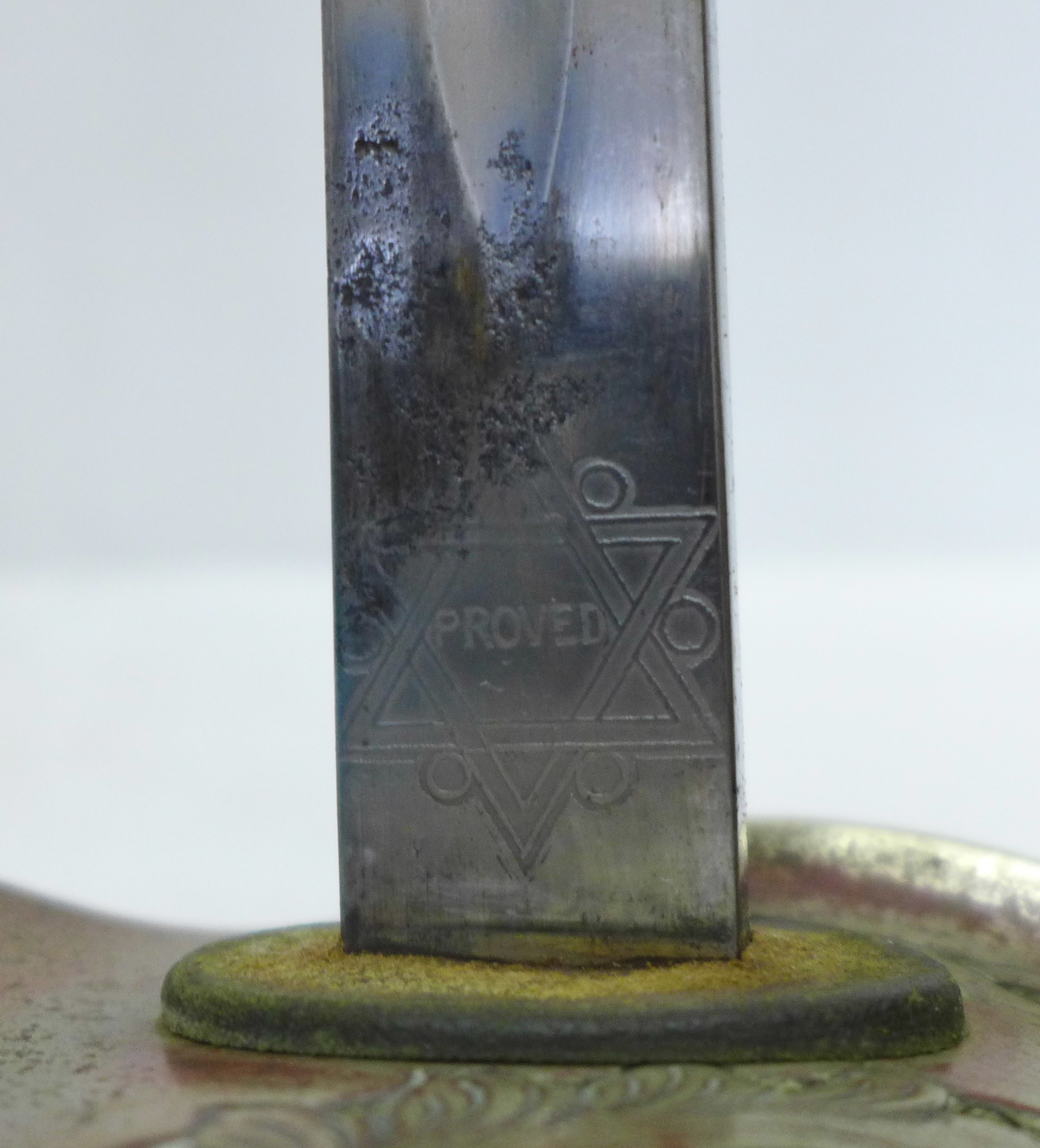 A George V officer's sword with scabbard, the blade marked James Deakin & Sons Limited, Sheffield, - Image 5 of 6