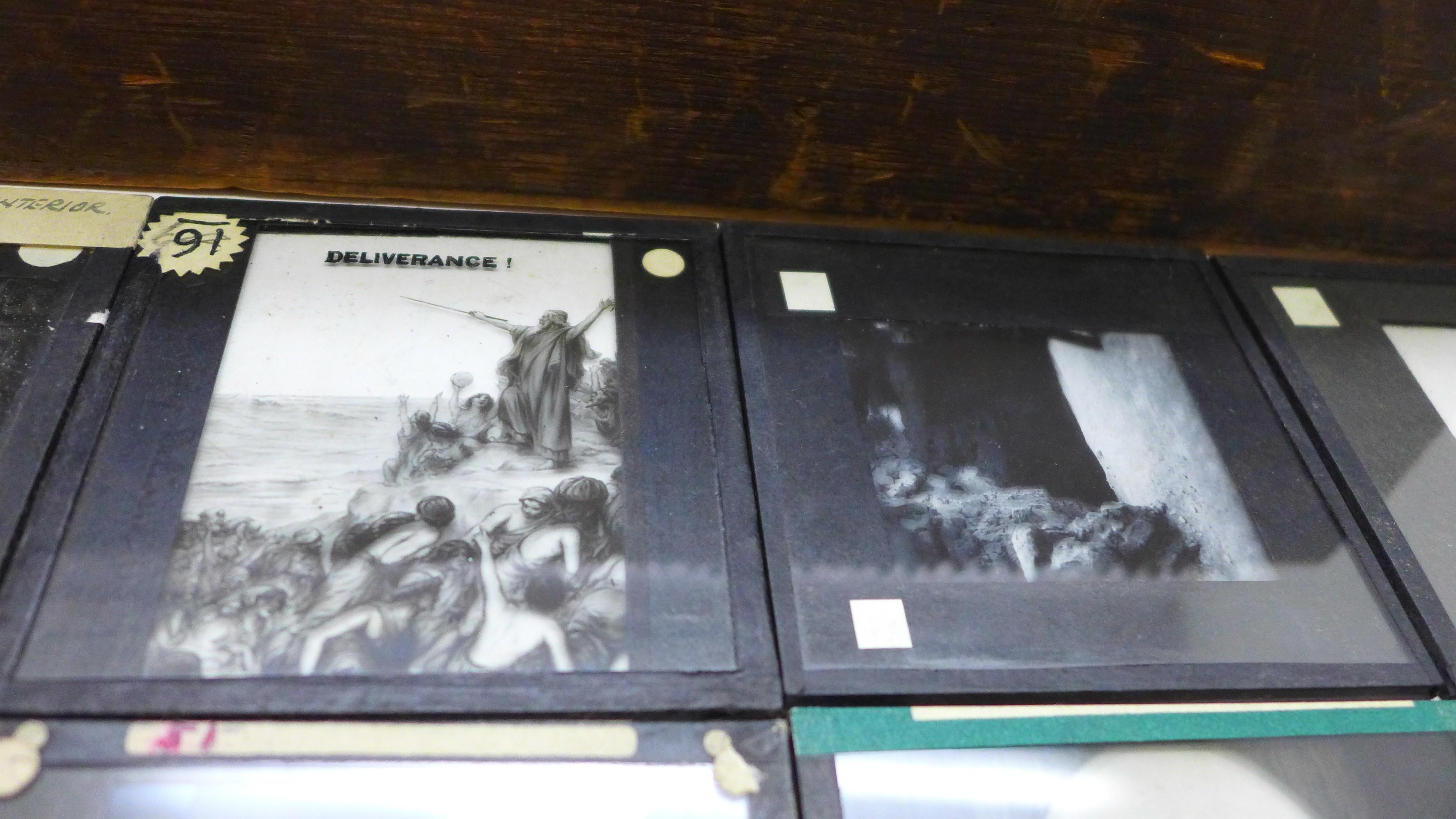 Fifty magic lantern slides, boxed - Image 2 of 3
