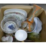 A box of mixed china and glass **PLEASE NOTE THIS LOT IS NOT ELIGIBLE FOR POSTING AND PACKING**