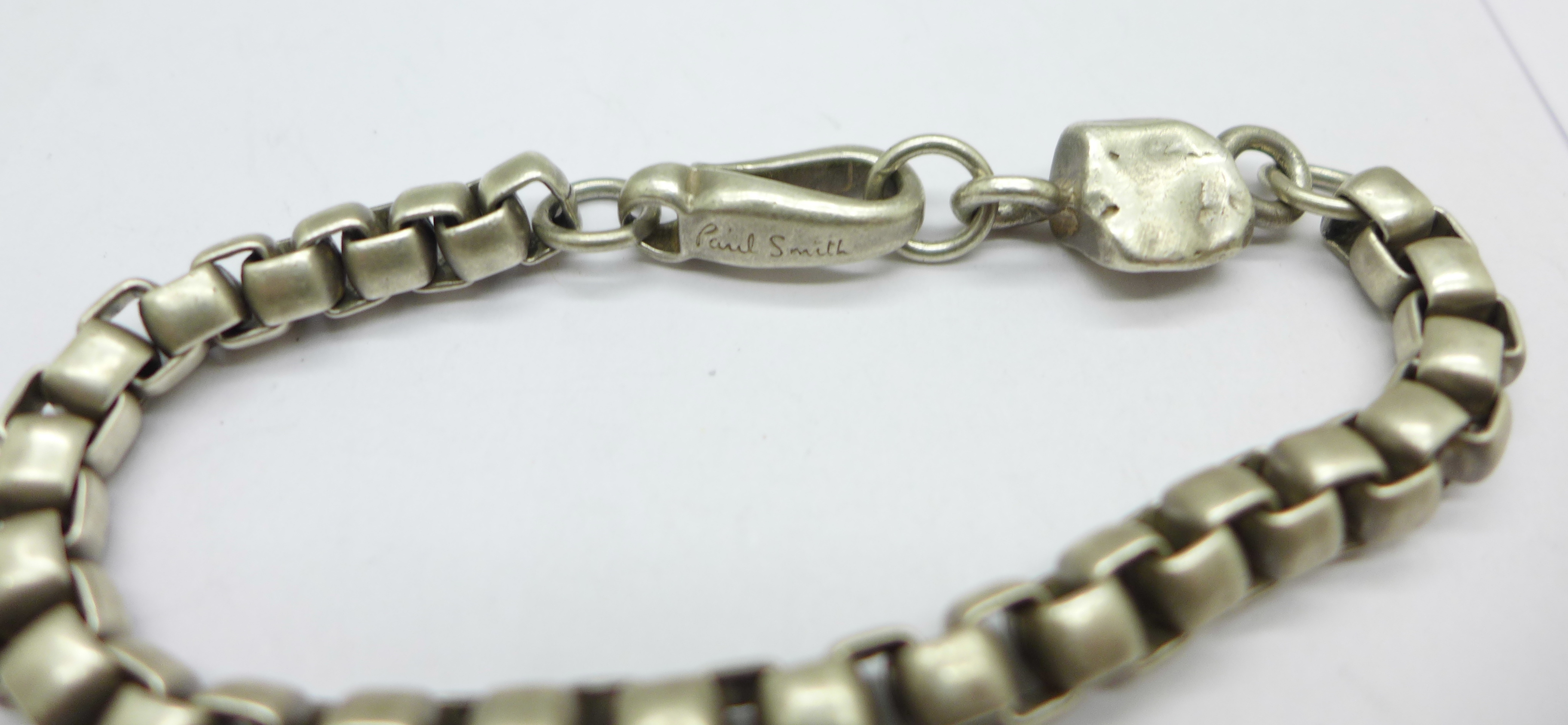 A Paul Smith silver chain with 'nugget' detail, 46g - Image 3 of 3