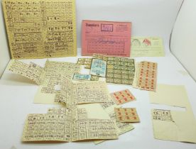 German 1949-50 ration coupons