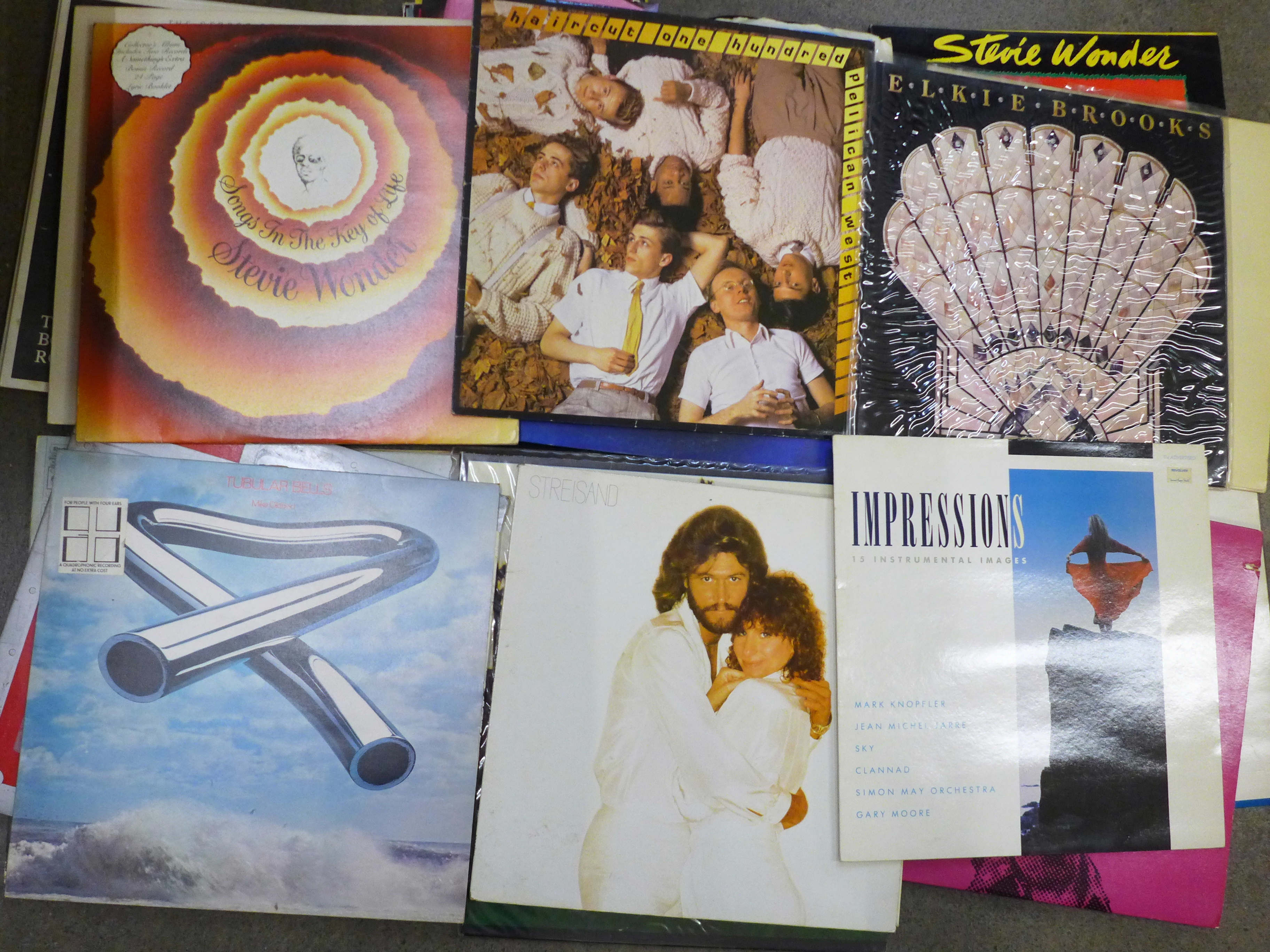"""A collection of LP records and 7"""" 45rpm singles including Bruce Springsteen, 10cc, Gladys Knight, - Image 3 of 4"""