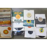 "A box of 45rpm 7"" vinyl singles"