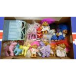 A collection of My Little Pony toys and accessories and Troll dolls **PLEASE NOTE THIS LOT IS NOT
