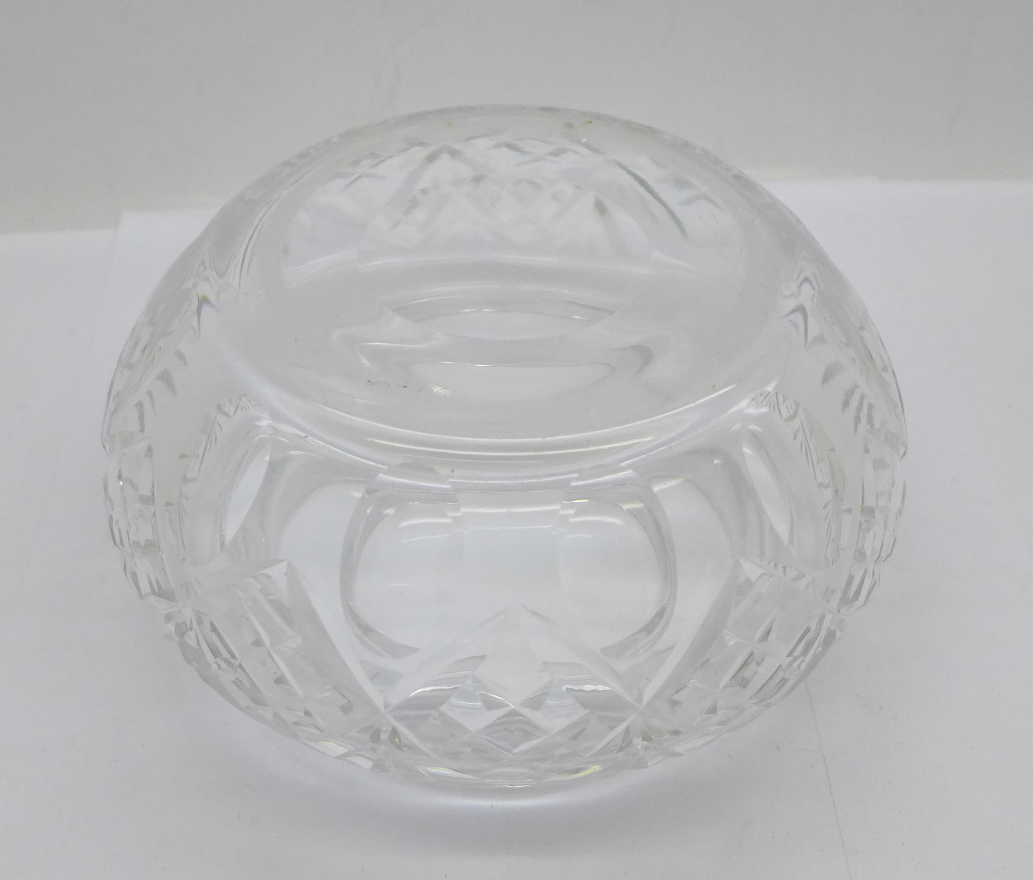 A large silver topped glass jar, the lid marked sterling silver and weighs 72g, diameter of glass - Image 5 of 5