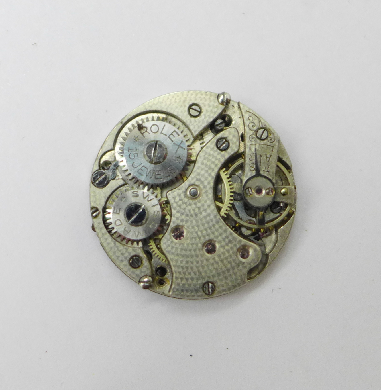 A Rolex wristwatch movement, 23mm, and a Waltham Giant gold plated full hunter pocket watch - Image 4 of 6