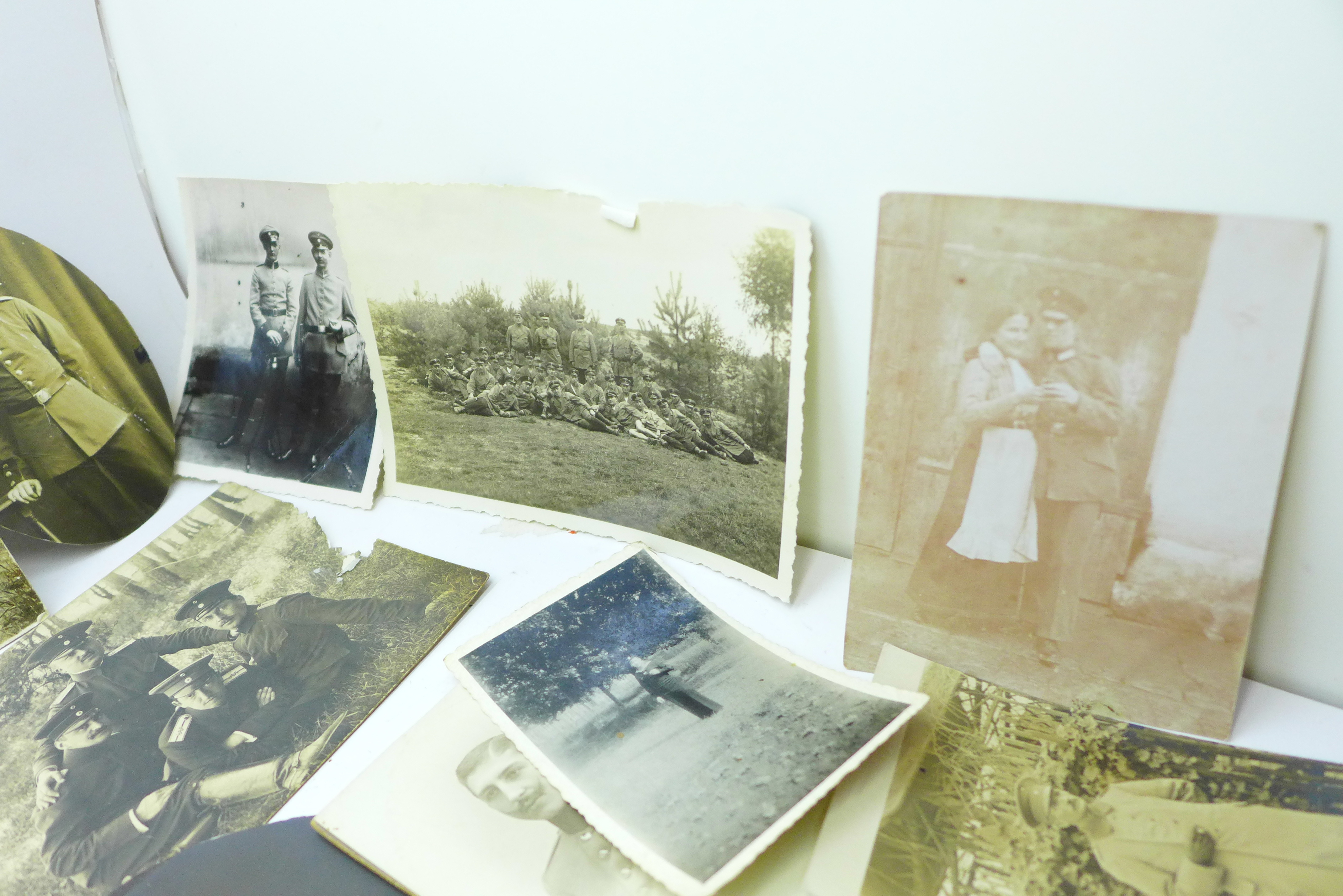 Seventeen WWI German photographs and twenty-two postcards - Image 5 of 6