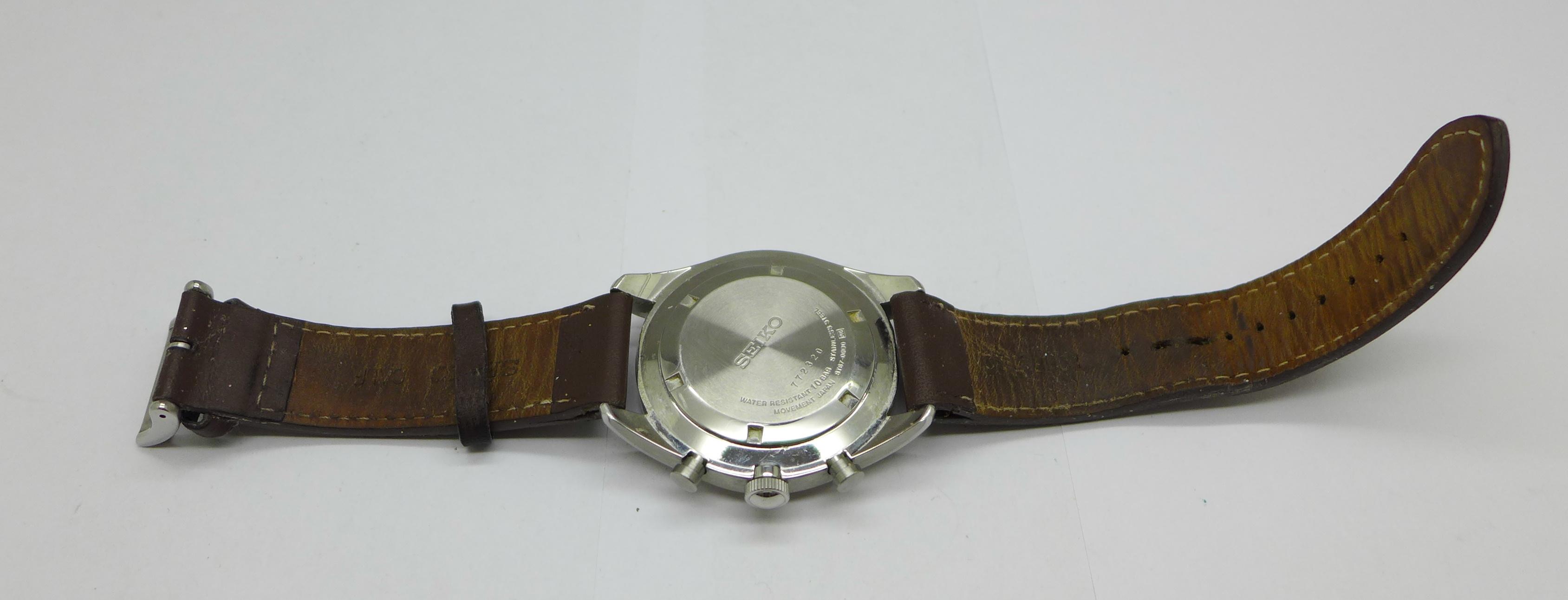 A Seiko chronograph wristwatch - Image 6 of 6