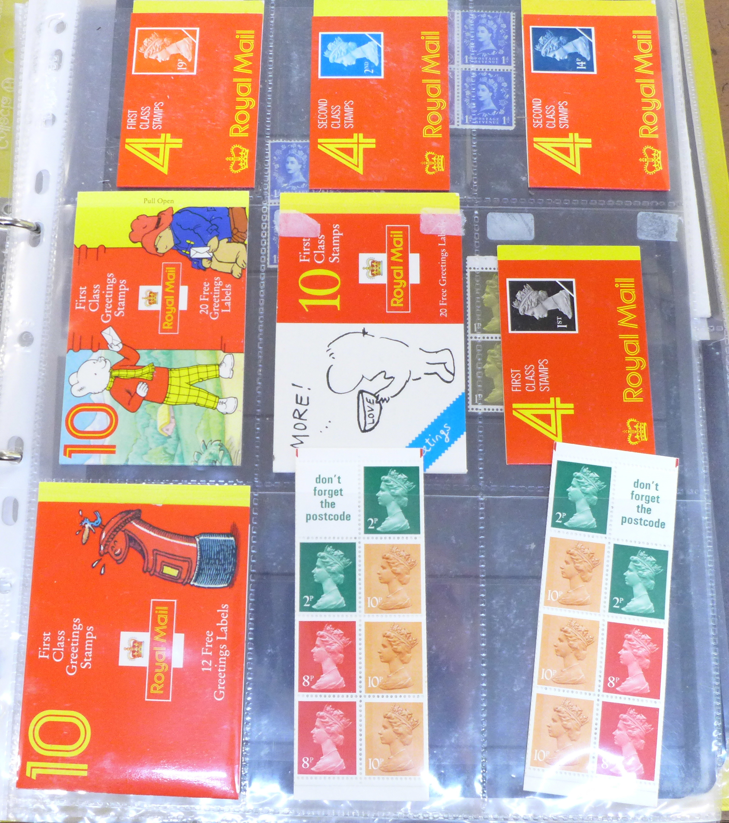 Great Britain booklets, booklet panes and booklet First Day covers - Face value exceeds £40 - Image 2 of 12
