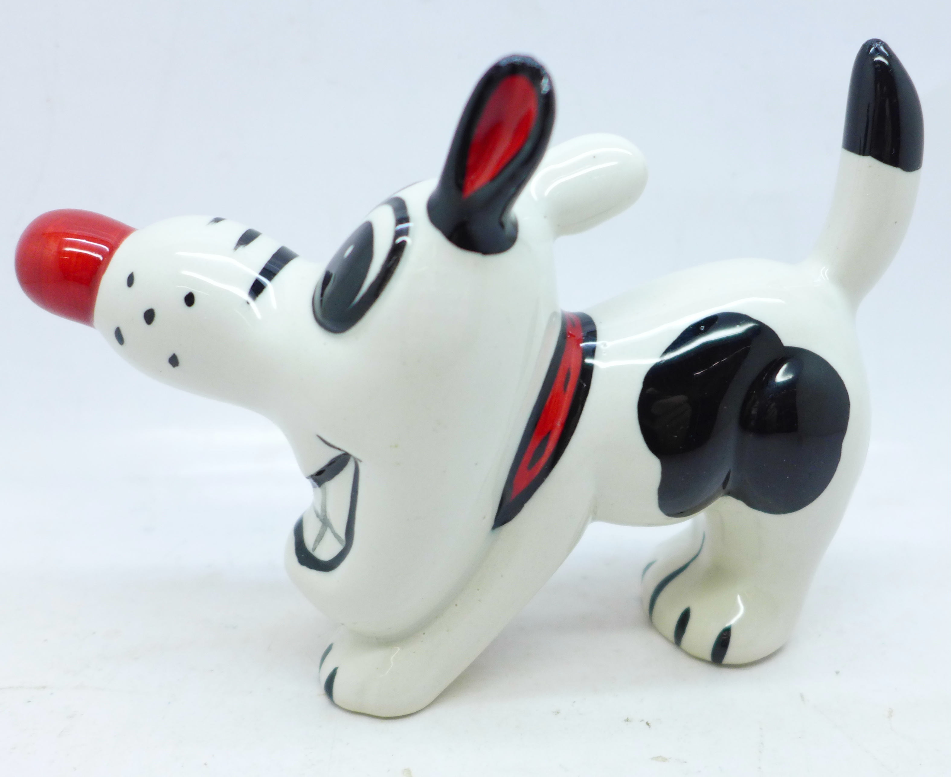 Lorna Bailey Pottery, 'Dashy the Dog', signed on base, 10cm - Image 2 of 3