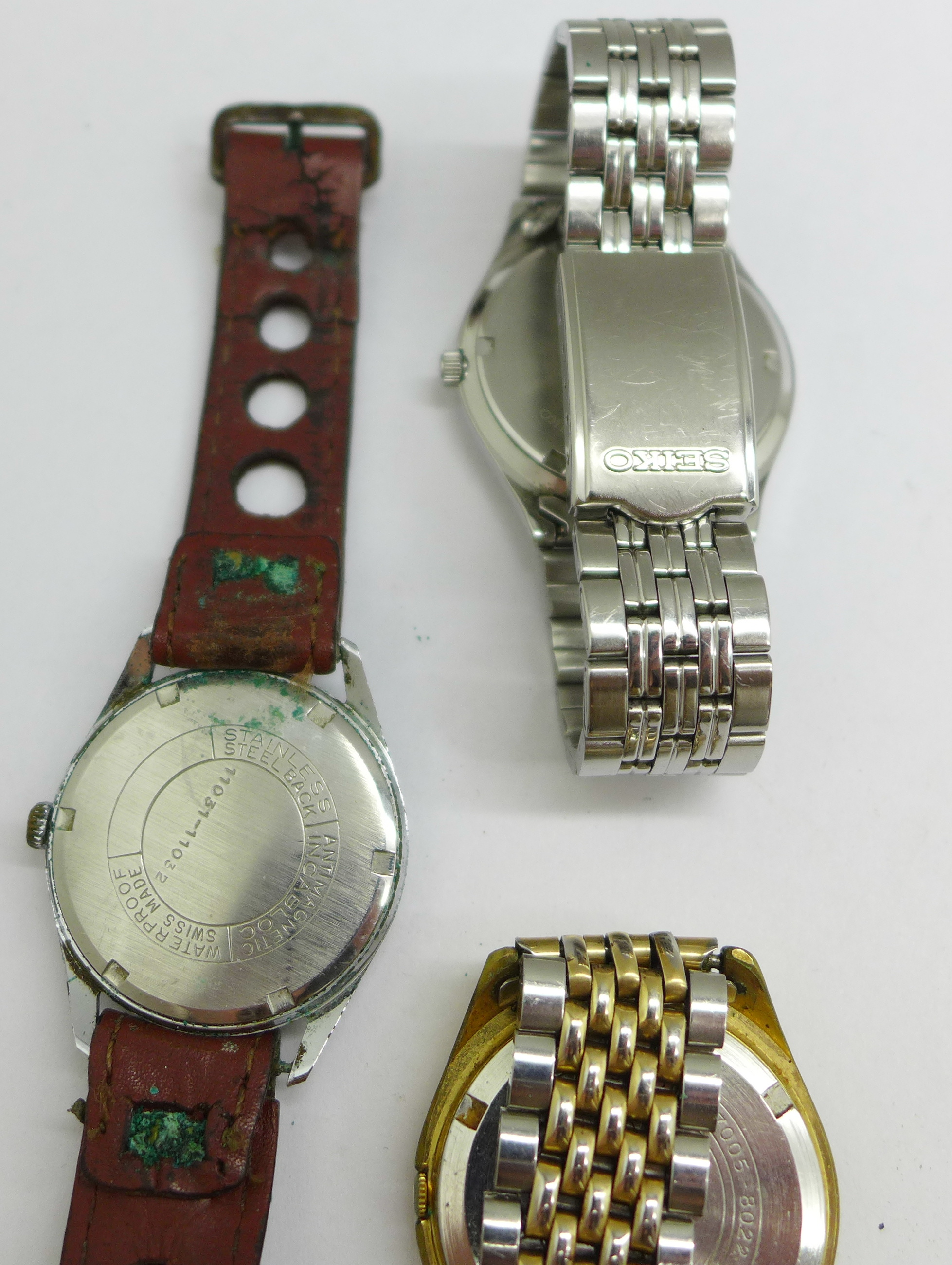 Three wristwatches including Seiko automatic and quartz, and Avia Olympic - Image 7 of 7
