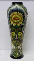 A Moorcroft Dent De Lion vase - design trial, 37cm