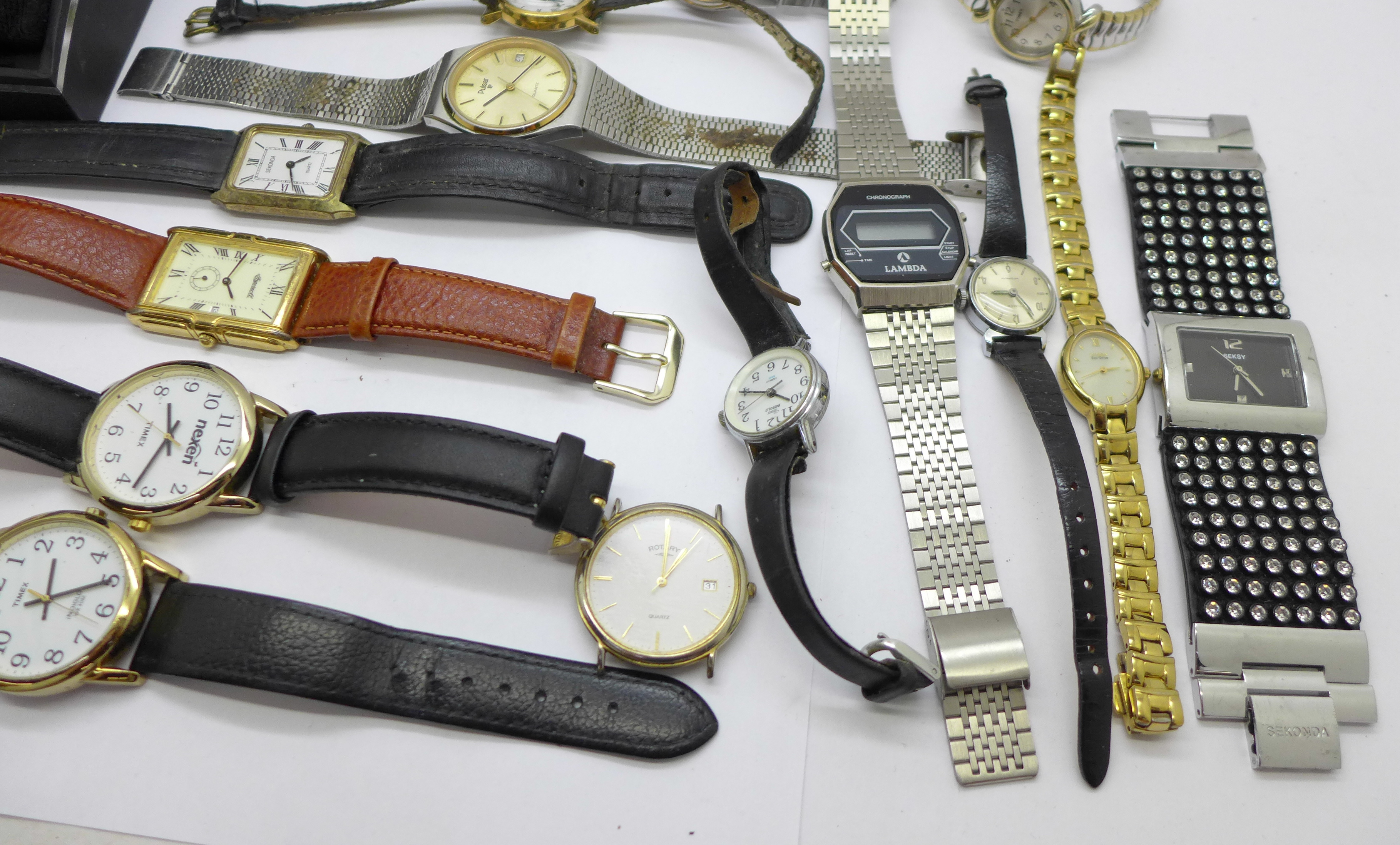 Wristwatches including Sekonda, Seiko, Ingersoll, Rotary, etc. - Image 3 of 5