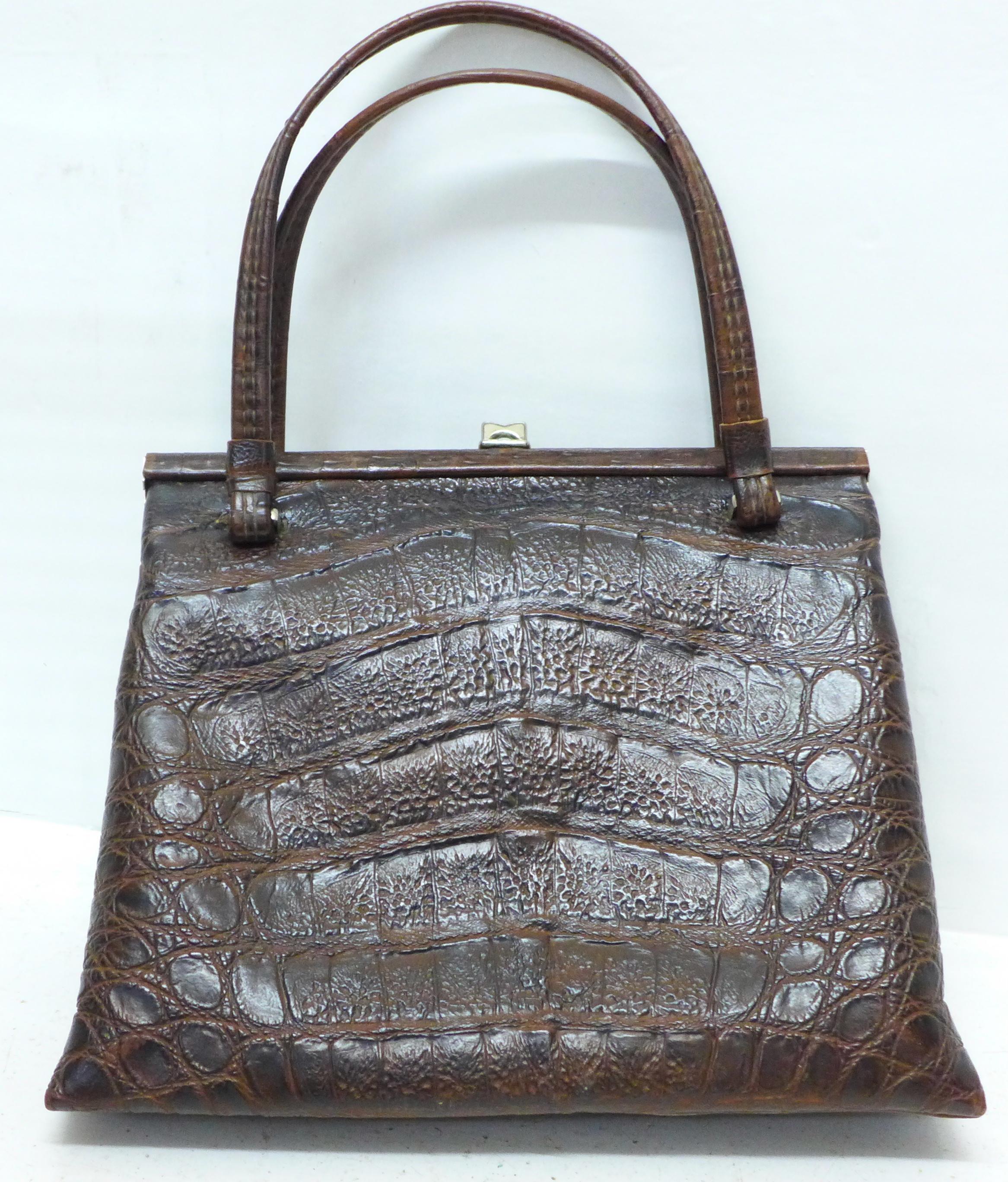 A Rieke vintage faux crocodile skin handbag - Image 2 of 4