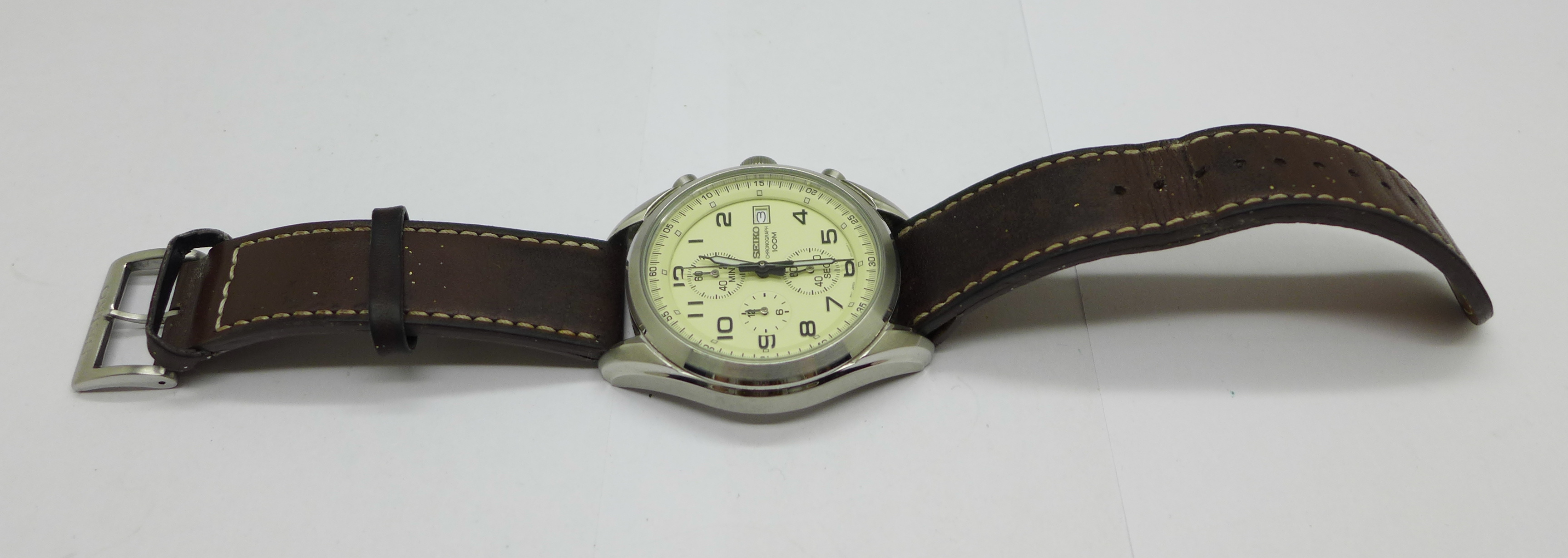 A Seiko chronograph wristwatch - Image 5 of 6