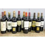 Three bottles of Domaine Saint Benoit 2006, two Marques de Toledo and seven others