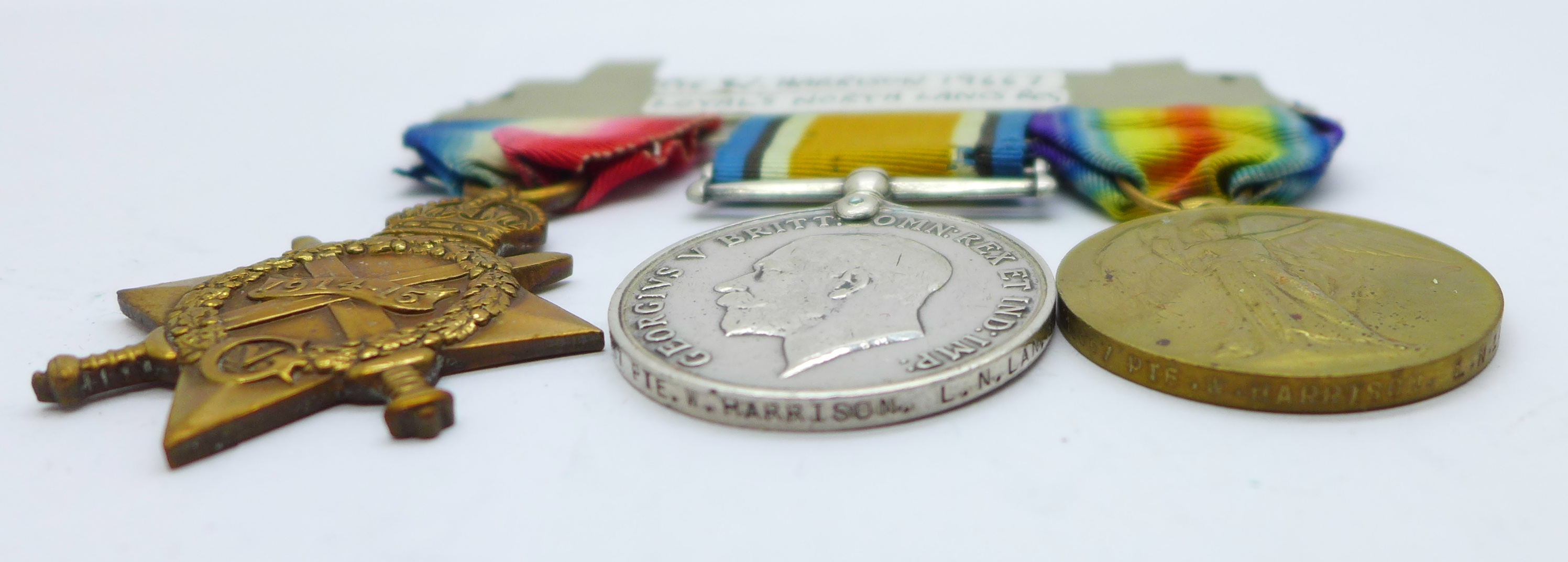 A trio of WWI medals to 19667 Pte. W. Harrison. L. N. Lan. R. - Image 3 of 3