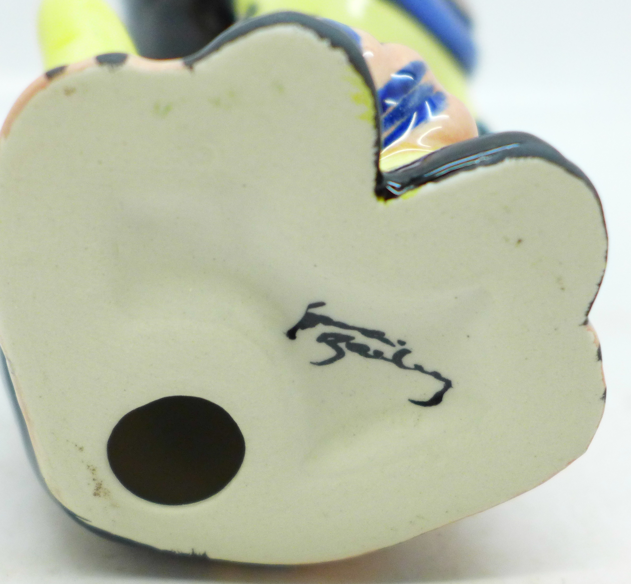 Lorna Bailey Pottery, 'Muppet the Cat', signed on base, 14cm - Image 3 of 3