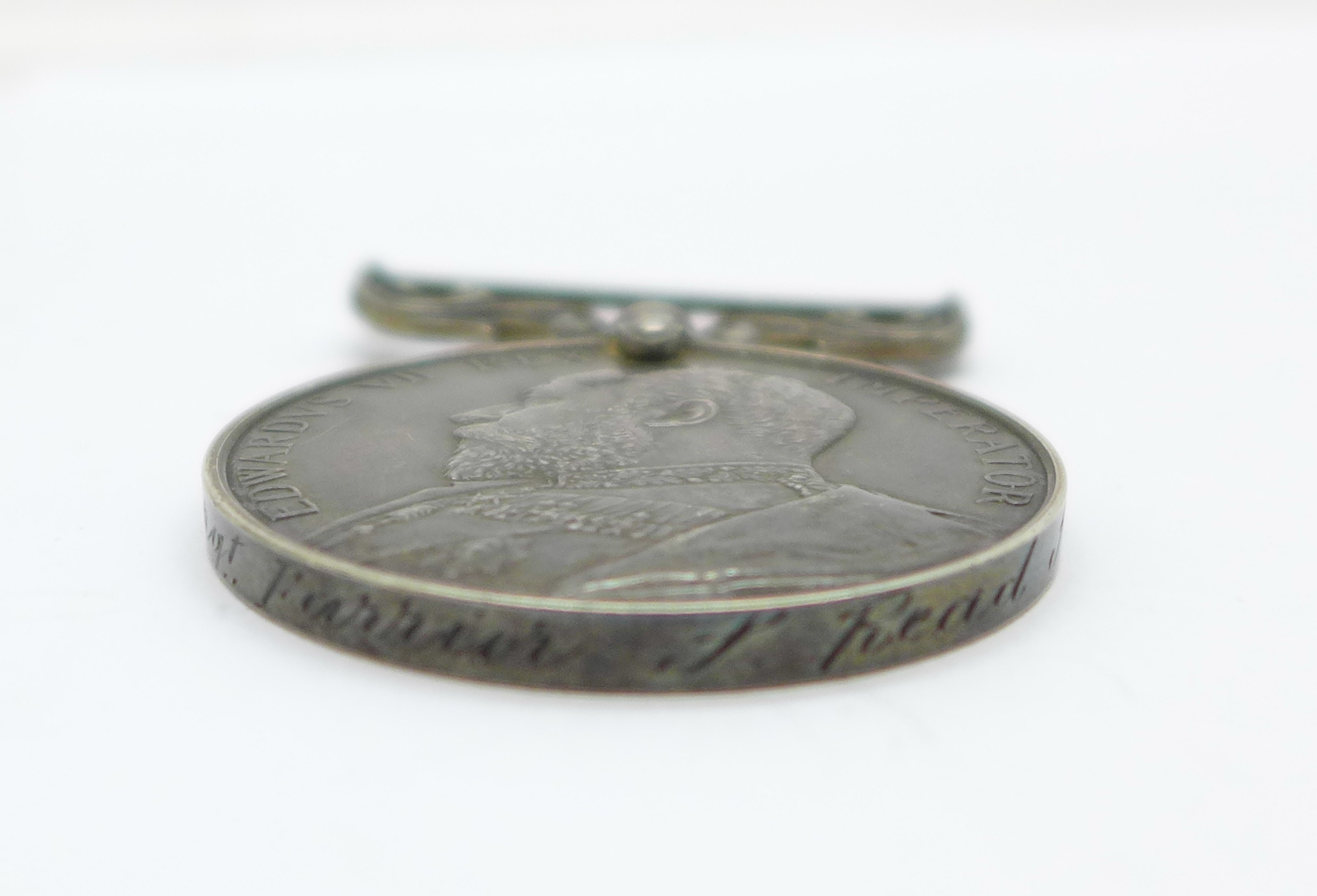 Three medals; WWI British War Medal to PS-8852 Pte W E Morgan R Fus, an Edward VII For Long - Image 3 of 5