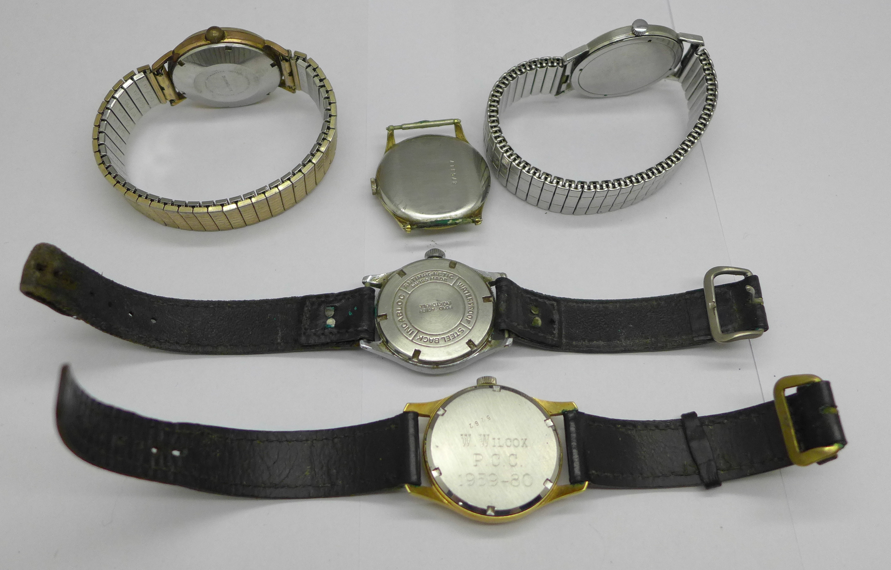 Five wristwatches including Bernex Barracuda and Ramona automatic - Image 5 of 5