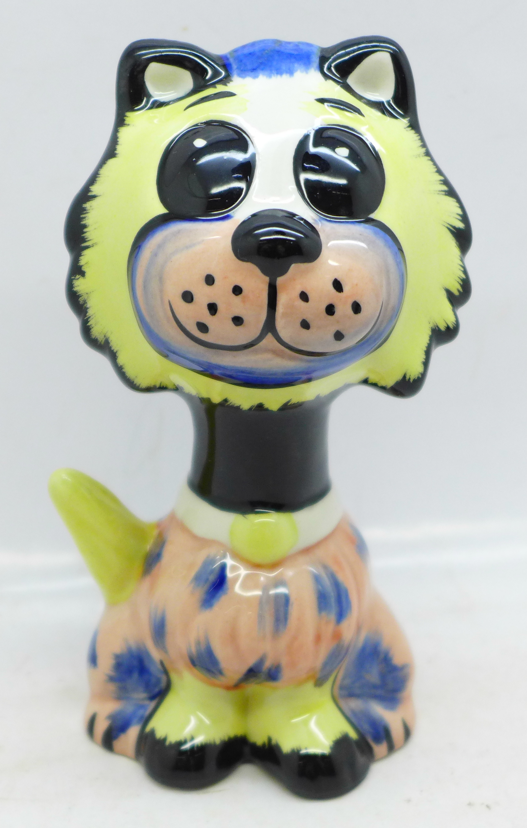 Lorna Bailey Pottery, 'Muppet the Cat', signed on base, 14cm