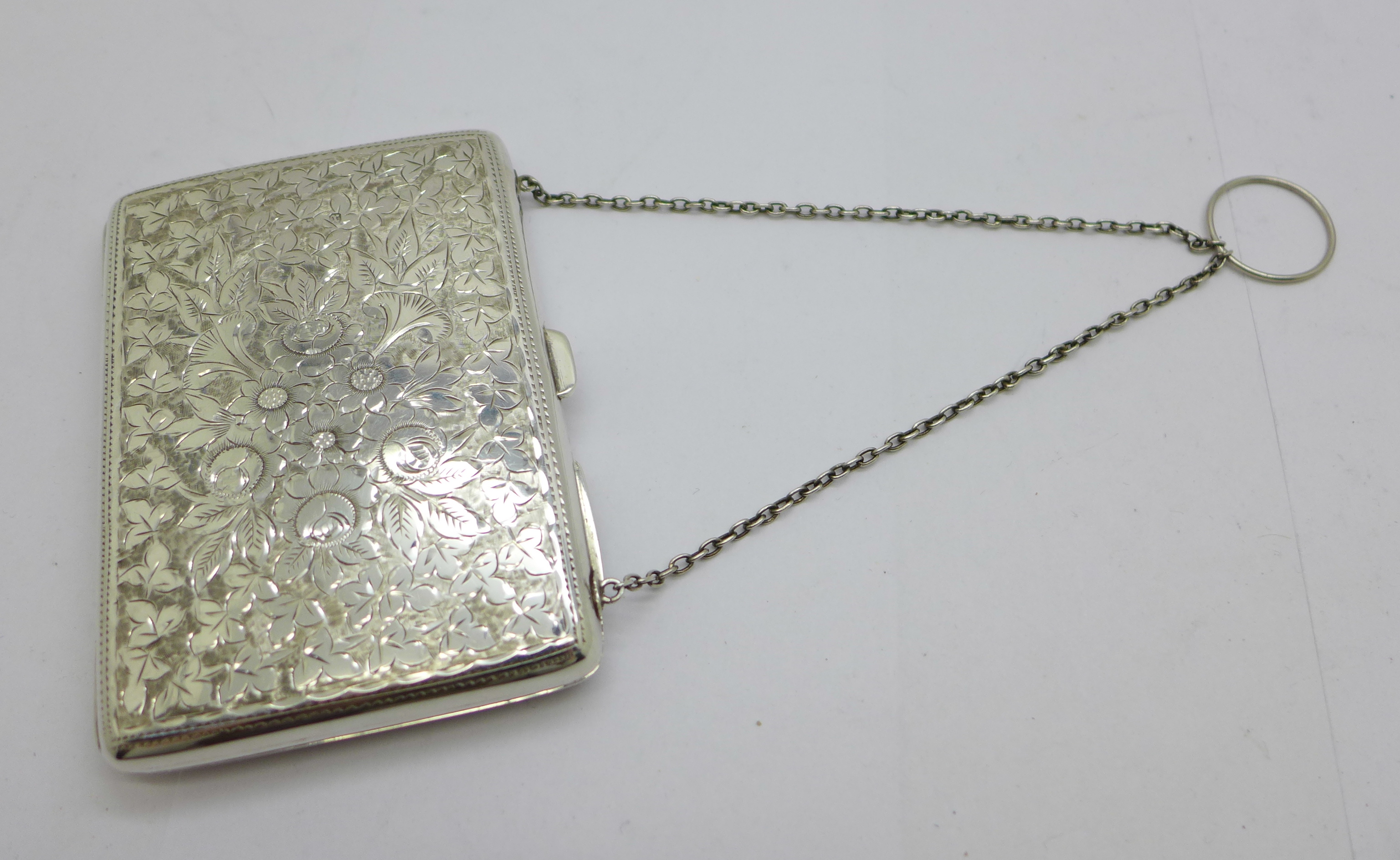 A late Victorian silver aide memoire purse, Joseph Gloster, Birmingham 1897, and a silver propelling - Image 3 of 4