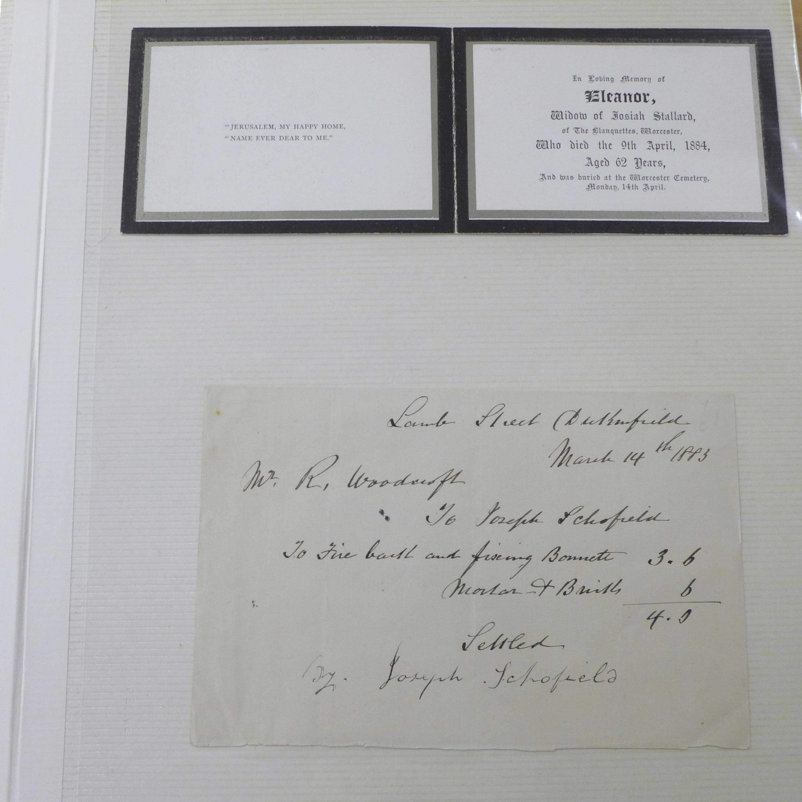 An album of assorted 1850's - 1950's paper ephemera - Image 2 of 11