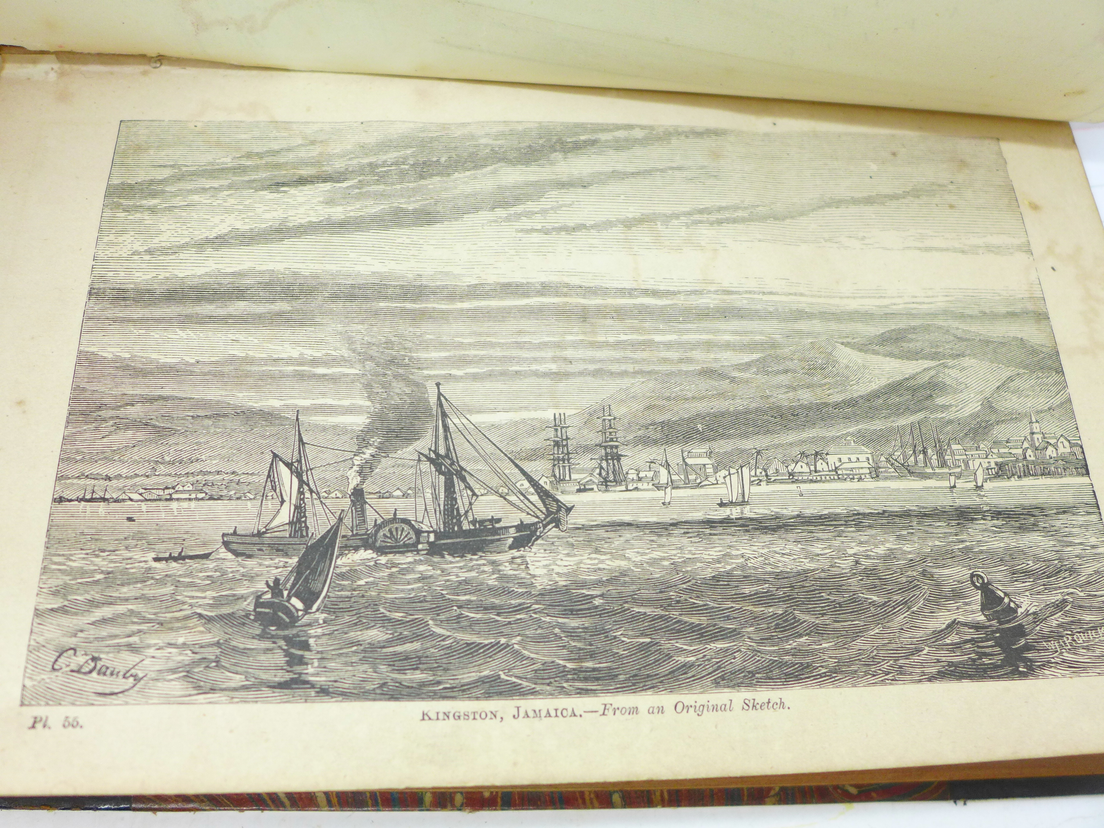 Two volumes, Beeton's Dictionary of Geography, printed by Savill, Edwards & Co., circa 1869, with - Image 6 of 8