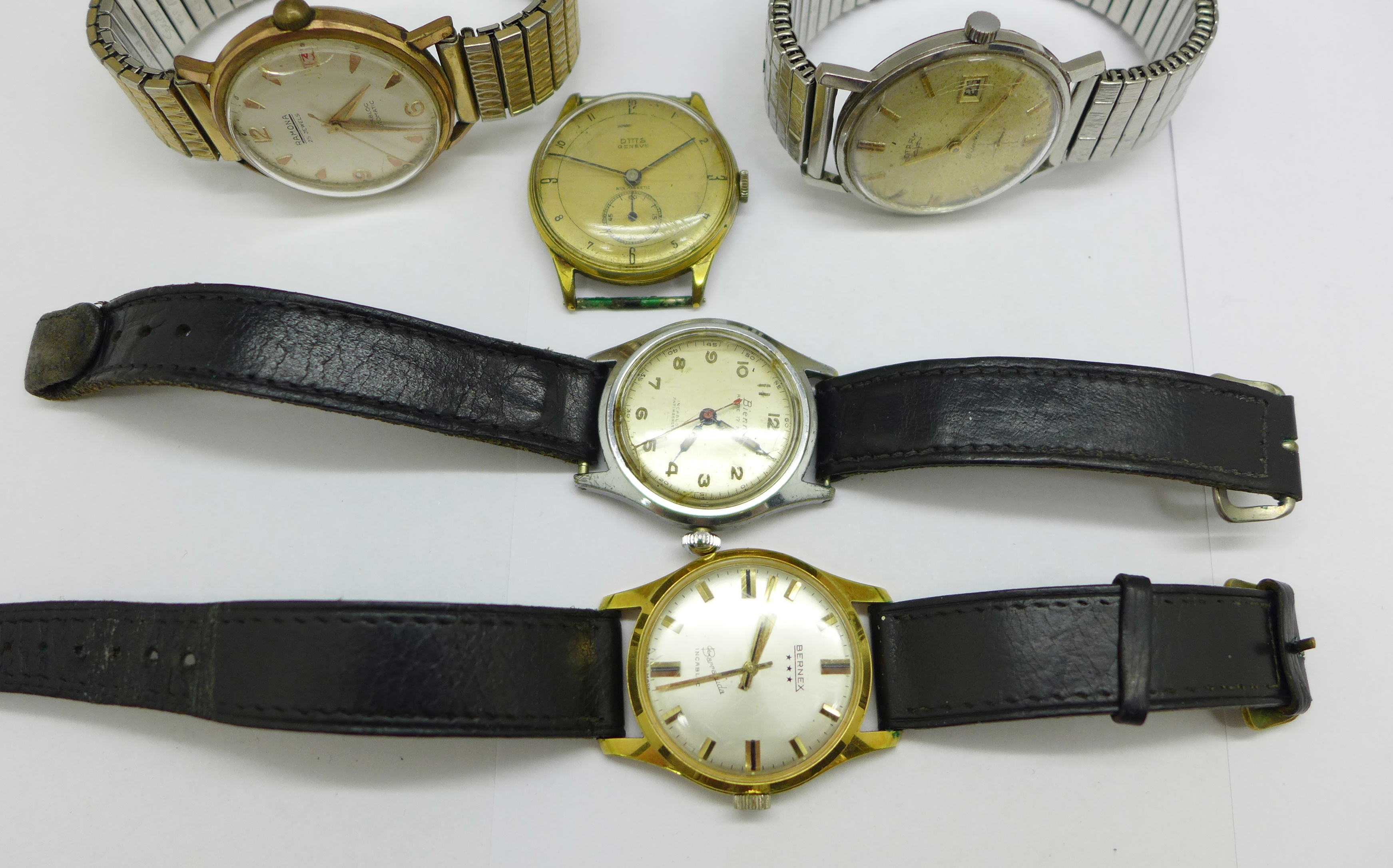 Five wristwatches including Bernex Barracuda and Ramona automatic - Image 3 of 5