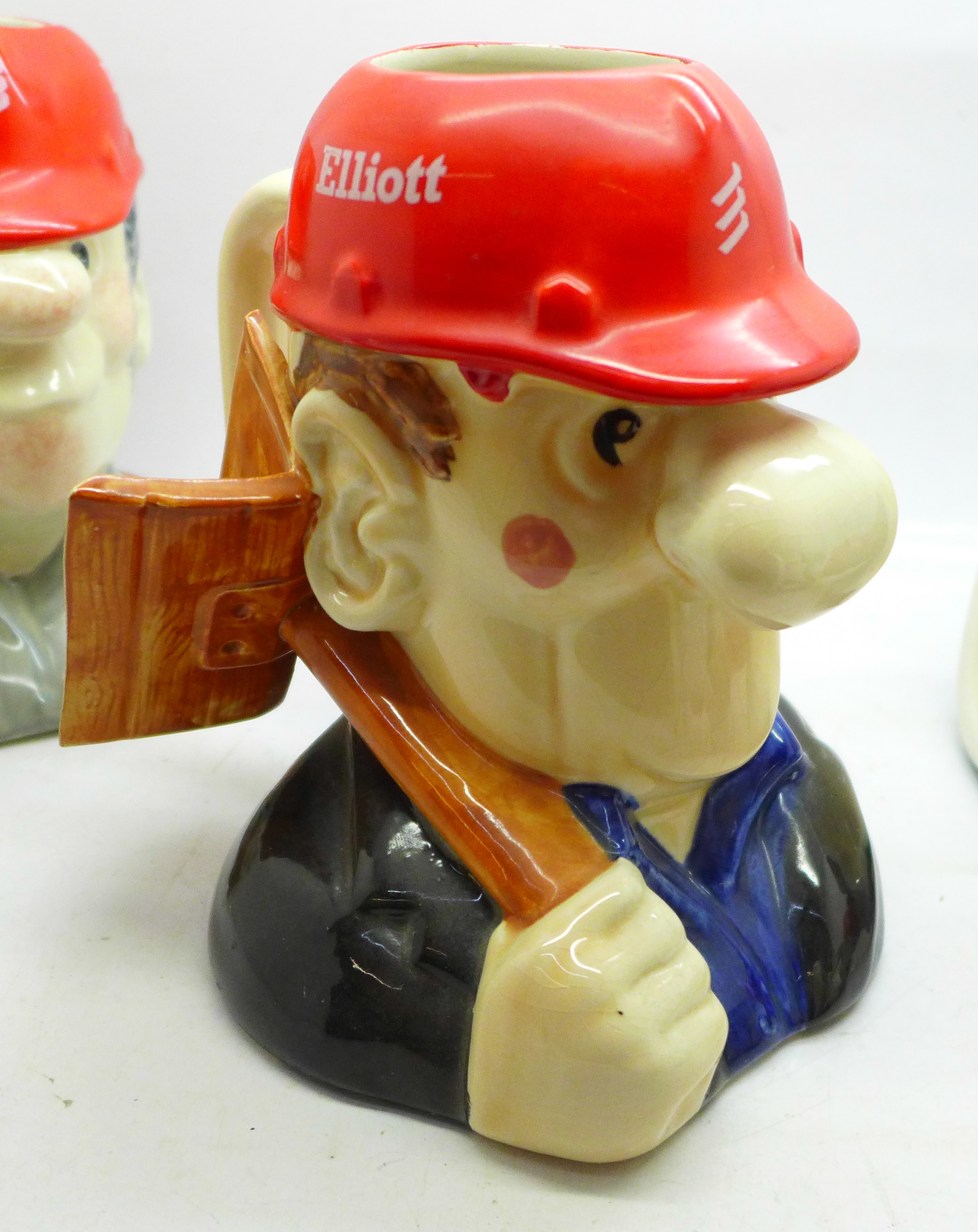 Four Elliott Toby jugs, 'The Builders' - Image 5 of 6