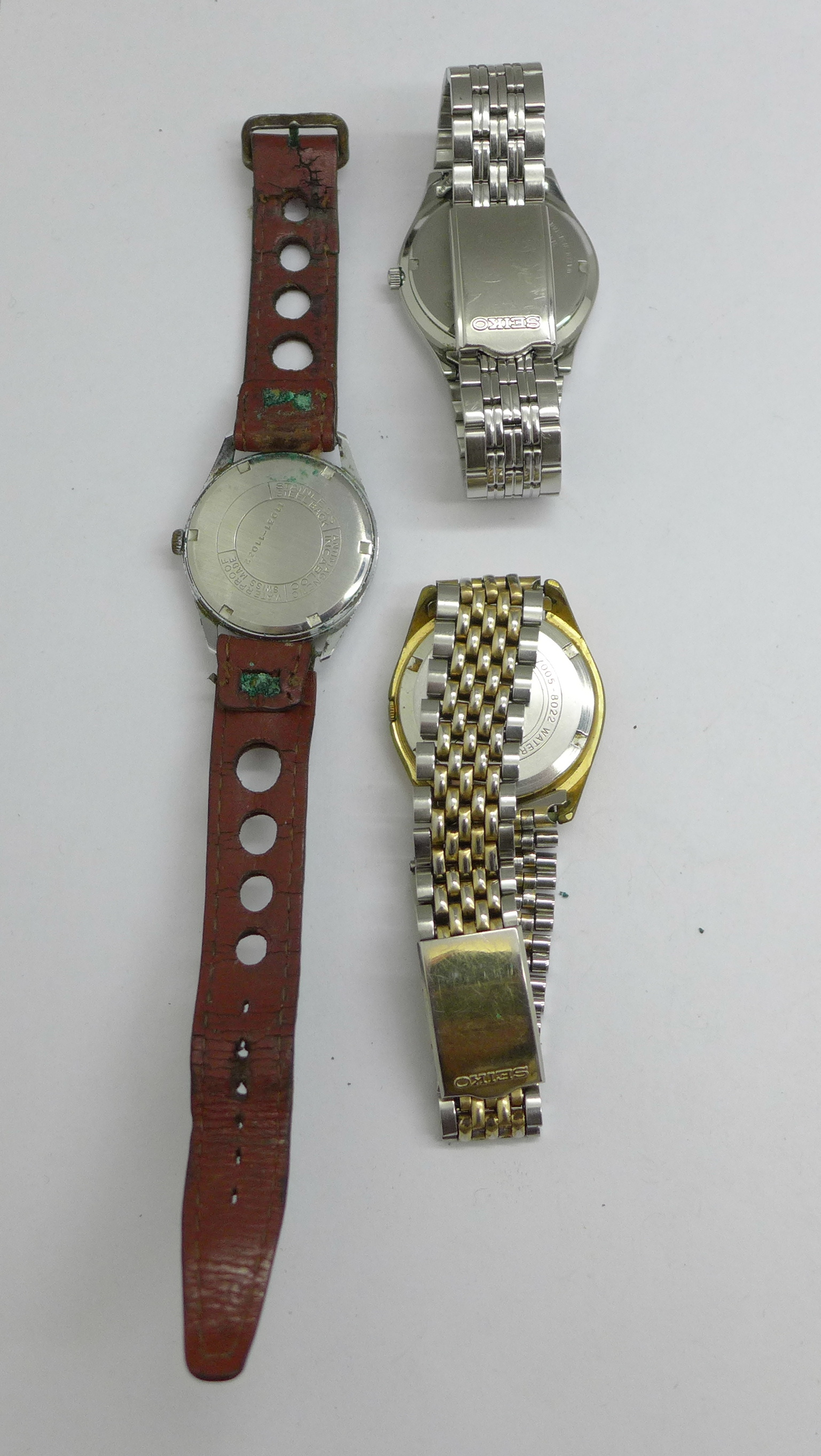 Three wristwatches including Seiko automatic and quartz, and Avia Olympic - Image 5 of 7