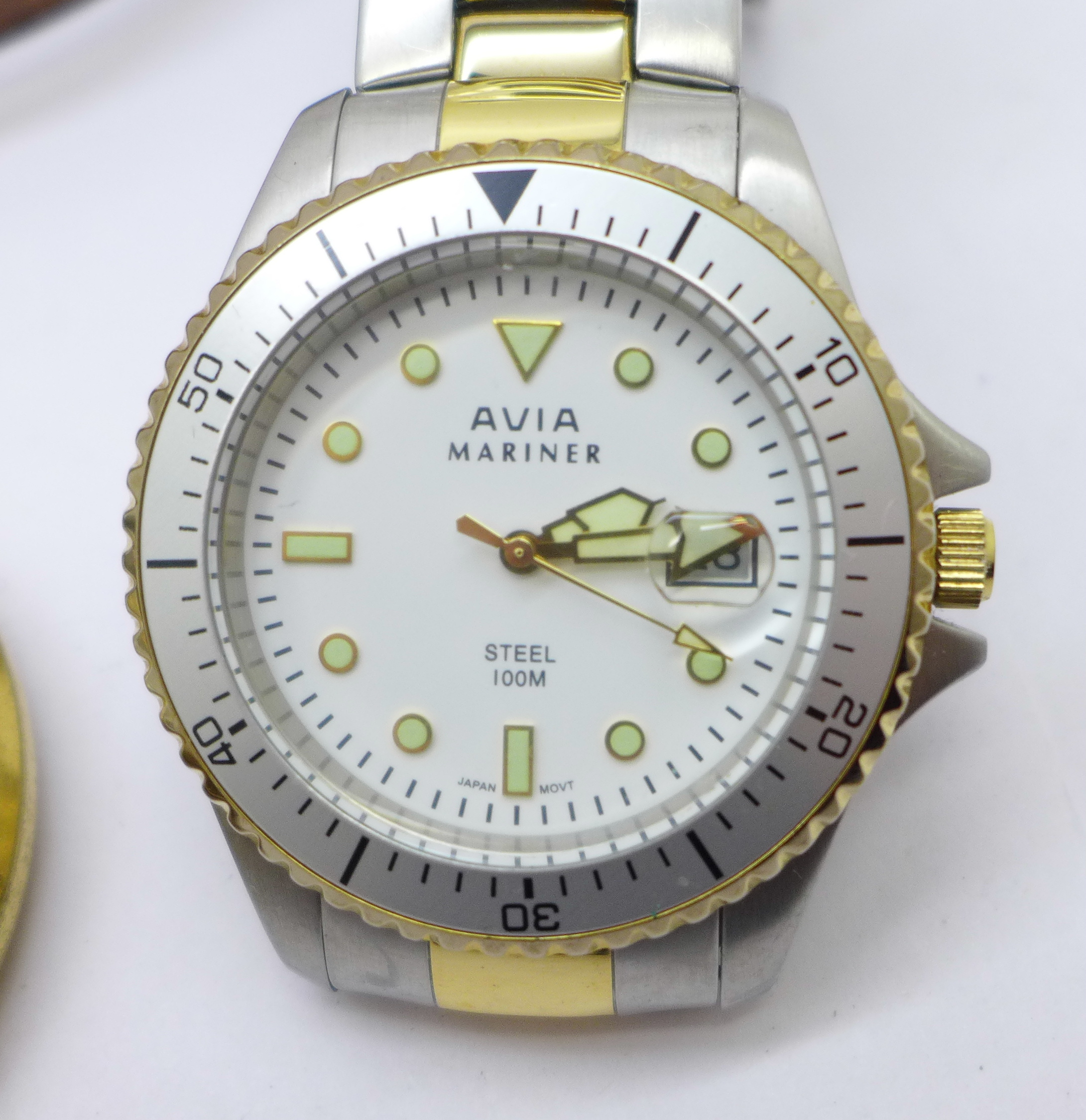 A collection of watches and a pocket watch including Seiko, Avia, Citizen, Emporio Armani and Smiths - Image 2 of 5