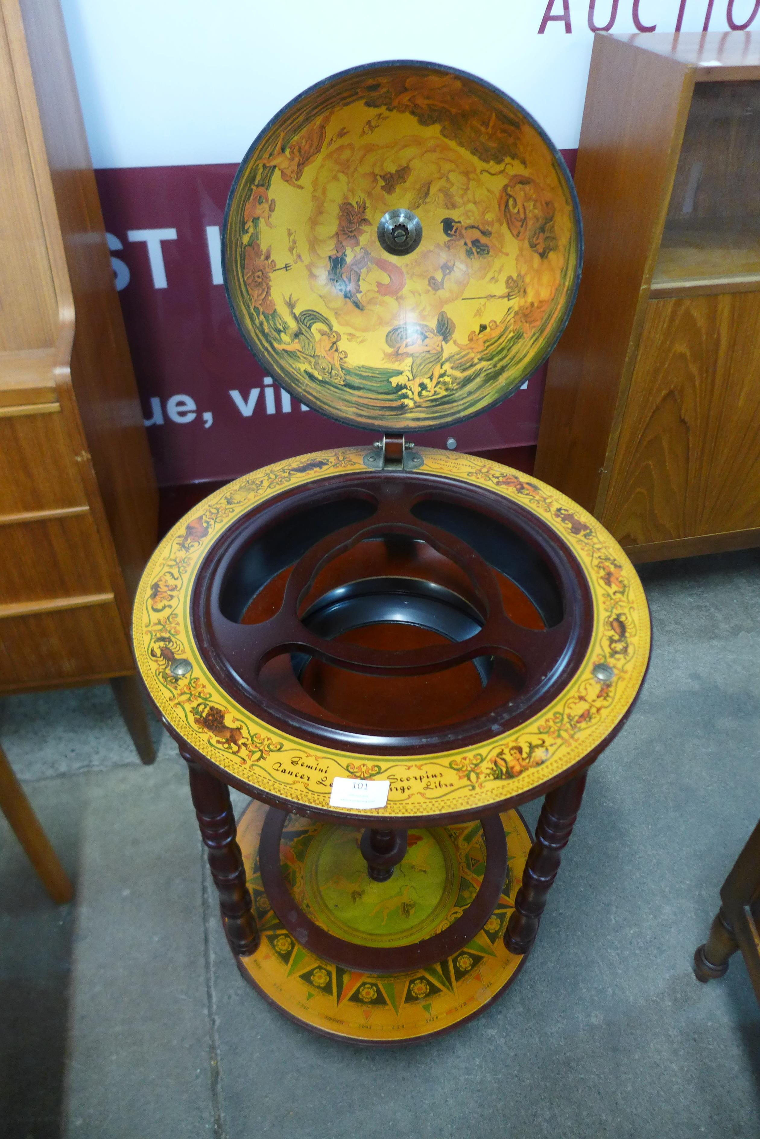 A terrestrial globe cocktail cabinet - Image 2 of 2