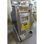 A vintage Aristocrat Arcadian one arm bandit fruit machine