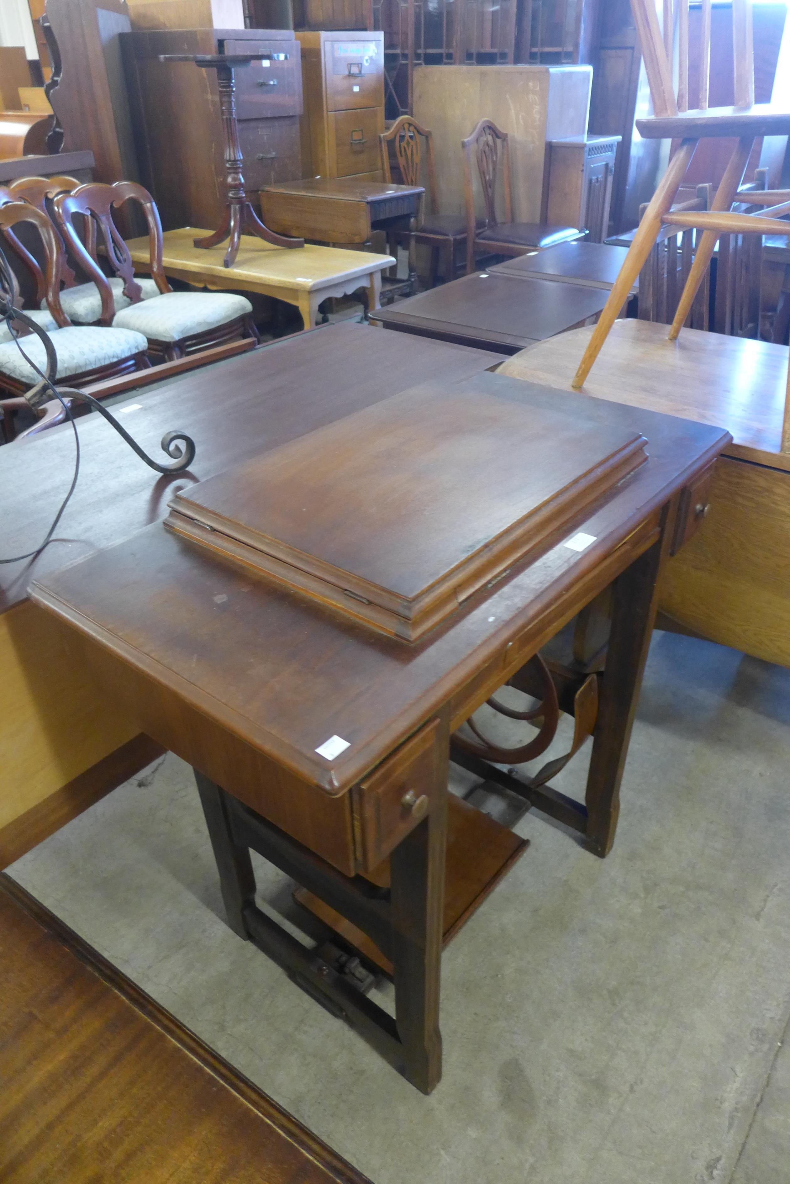 A Jones treadle sewing machine - Image 2 of 2