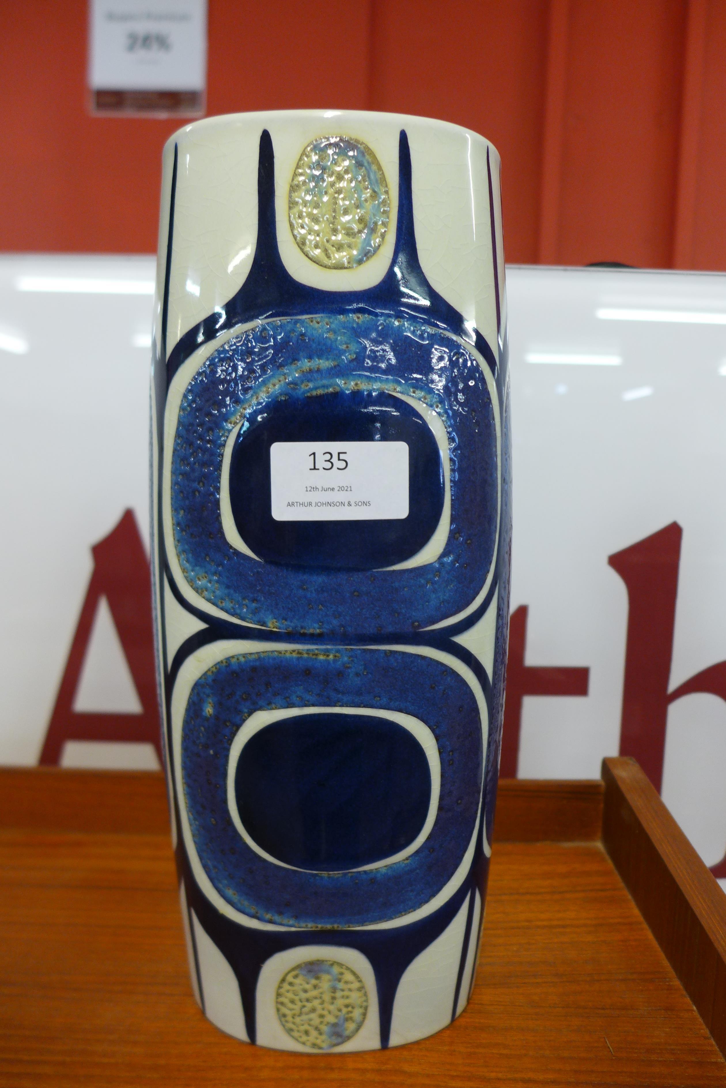 A Danish studio pottery vase, base numbered 450/3116