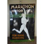A Marathon Motor Oil enamelled sign
