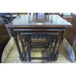 An oak nest of tables