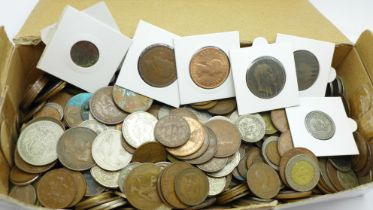 A collection of coins, some Victorian, Edward VII and later, 3.2kg