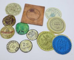 A copper printing plate for verge fusee pair-case pocket watches and a collection of watch papers,