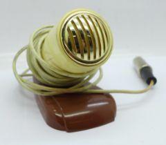 A Bakelite microphone