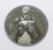 A Lord Admiral Nelson paperweight