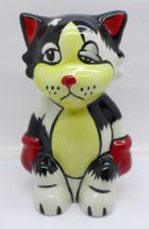 A Lorna Bailey Ali Cat, signed on the base, 14cm