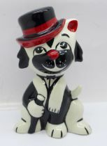 A Lorna Bailey Frankie Vaughan inspired Moonlight the Cat, signed on the base, 13cm