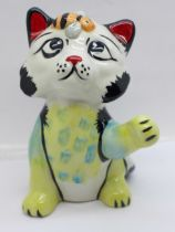 A Lorna Bailey Busy Bee the Cat, signed on the base, 13cm